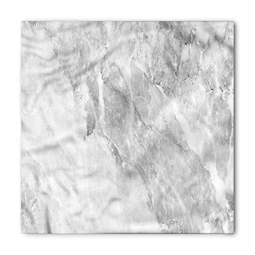 Lunarable Unisex Bandana, Marble Retro Blurry Color Contrast, White Grey