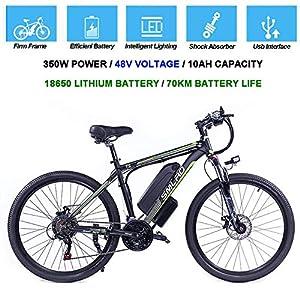 Hyuhome Biciclette elettriche per Gli Adulti, 360W Lega di Alluminio-Bici della Bicicletta Removibile 48V / 10 Ah agli…