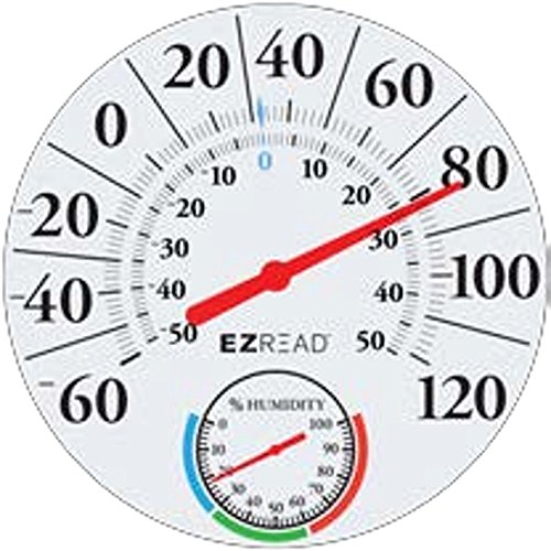 Headwind Consumer Products 840-1212 EZREAD Dial Thermometer/Hygrometer Basic White 12.5