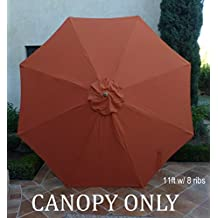 Replacement umbrella canopy for 11ft 8 ribs in Terra (Canopy Only)