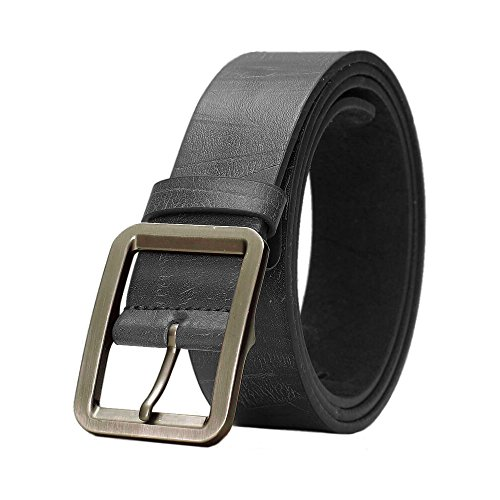 Mens Faux Leather Belt Premium Metal Buckle Quality Soft Imitation Vegan Vegetarian Approved Sizes (From 30 to 46)