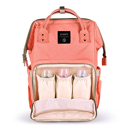 Smilism Diaper Bag Backpack for Baby Care, Multi-Functional