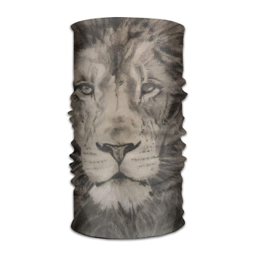 African Lion Wildlife Unisex Fashion Quick-drying Microfiber Headdress Outdoor Magic Scarf Neck Neck Scarf Hooded Scarf Super Soft Handle