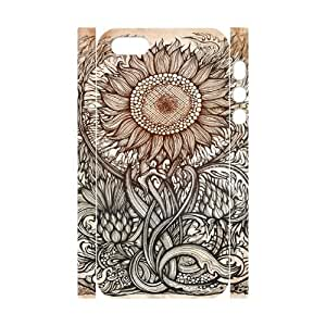 Iphone 5,5S Sunflower 3D Art Print Design Phone Back Case Use Your Own Photo Hard Shell Protection DFG062097