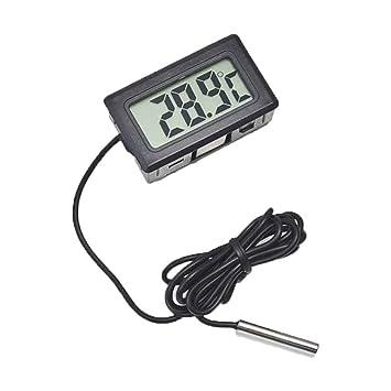 Uzinb Termómetro LCD Digital para Nevera Nevera Congelador Medidor ...