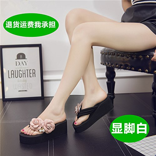 Ladies' Sandals Bottom Black Thick Sandals and High myldy Forty Heels PSxwgqPd