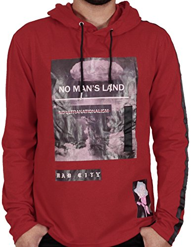 M. Society Men's No Man's Land Printed Hoodie From