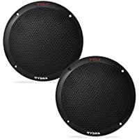 Pyle PLMR605B Dual 6.5 Waterproof Marine Speakers, 2-Way Full Range Stereo Sound, 400 Watt, Black (Pair)