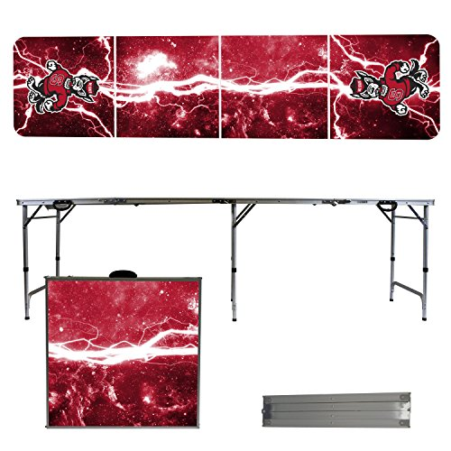NCAA North Carolina State Wolfpack NC State Lightning Version 8' Folding Tailgate Table by Victory Tailgate