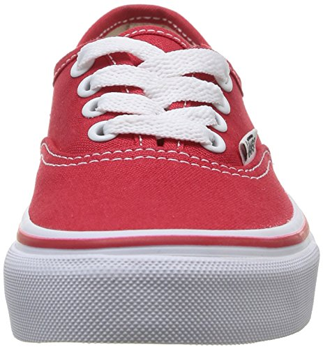 Vans K Authentic, Zapatillas Niño Rojo/True Blanco