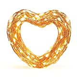 #2: Eufy Starlit String Light, 33 ft Indoor and Outdoor White LED String Lights, IP65 Water-Resistant, Decoration for Christmas Tree, Bedroom, Patio, Holiday, Wedding, and Party ( Copper Wire )