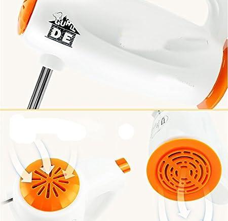 DHG para una Batidora Manual Eléctrica de Alta Potencia Crema Batidora Doméstica Mezclando Mini Batidora Comercial, Naranja, Un Regalo de Navidad: Amazon.es
