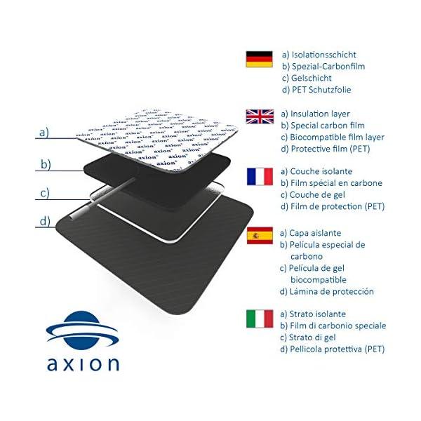 axion - Set di 48 elettrodi 4x4 cm in formato Risparmio con cavetti da 2mm 5 spesavip