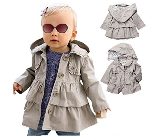 Amazon.com: Baby Toddler Girls Fall Winter Trench Coat Wind Hooded ...