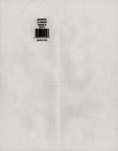 "Mesh Plastic Canvas #10 - Rectangle - 10-1/2"" x 13-1/2"" (12 Pack) Darice Inc. 27093250"