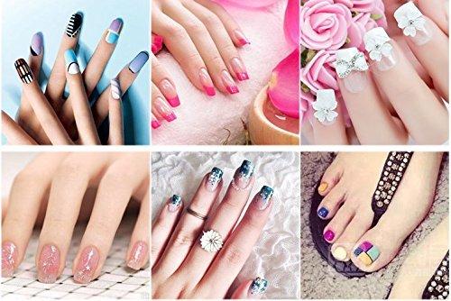Paquete de 10 bloques de uñas de 3 vías para limas de uñas + 5 unidades de 7 formas de lima de uñas pulido brillante para manicura de uñas y dedos de ...