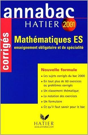 Read Annabac corrigés 2001 : Mathématiques ES pdf, epub