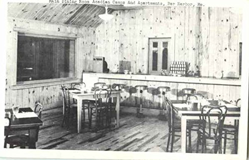 Main Dining Room Acadian Camps And Apartments Bar Harbor, Maine Original Vintage Postcard