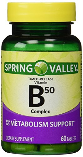 Stress B-complex 50 Tab - Spring Valley - Vitamin B-Complex B50, Timed Release, 60 Tablets