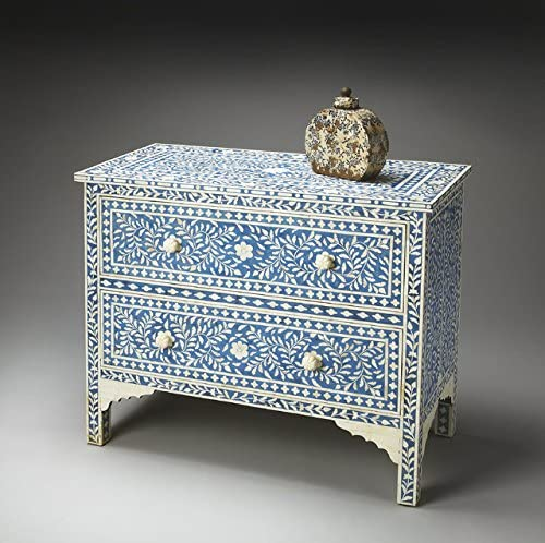 Luxury Heritage Chest of Two Drawer (Blue)