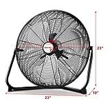 COSTWAY Floor Fan, 20-Inch