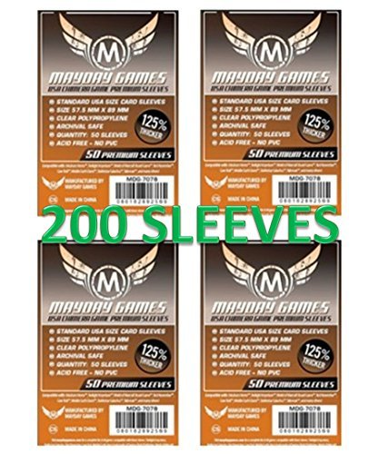 Mayday Premium USA Chimera Card Sleeves 57.5 x 89 mm (4x50 Pack, 200 - Usa Cards