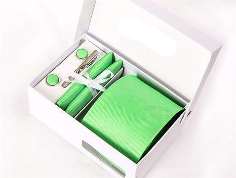pyty123 Corbata Verde 8Cm Color Sólido Traje Nano Traje De ...