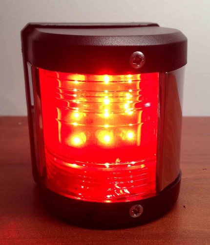 Pactrade Marine Boat Red Port LED Navigation Light Waterproof Boats Up To 12M