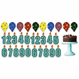 Birthday Boy Pathway Markers – Candle Numbers, Cake, Balloons - 22 Short Stakes