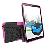Galaxy Tab A 10.1 Case, MCUK Heavy Duty Rugged Dual Layer - Soft/Hard Shell 2 in 1 Tough Protective Cover Case with Kickstand for Samsung Galaxy Tab A 10.1 Inch (SM-T580/SM-T585) 2016 Released (Rose)