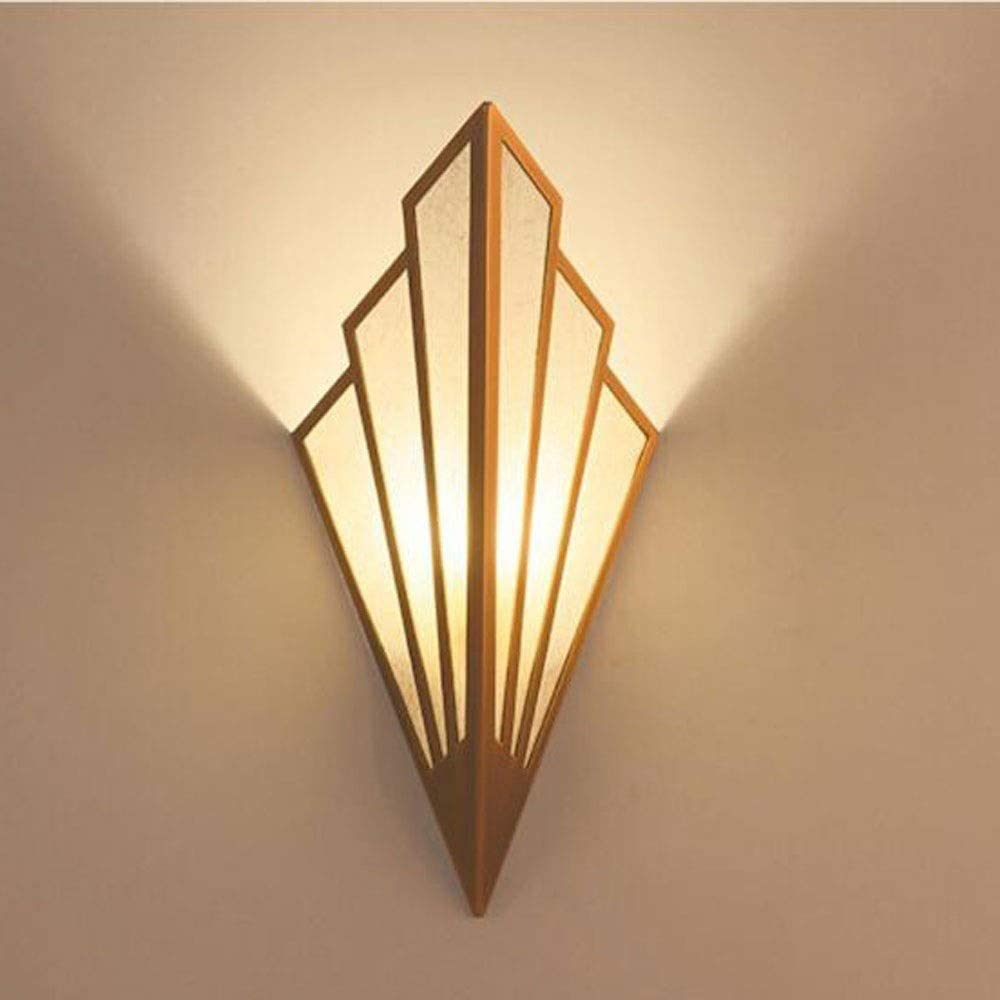 Cuirulian European Style Linen Fan Shaped Wall Light Wrought Iron Lampshade Wall Lamp Fitting Art Deco Lighting For Living Room Bedroom Wall Sconces Fixture Color Gold Size 1pcs Amazon Co Uk Kitchen Home