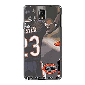 Shock Absorbent Hard Cell-phone Cases For Samsung Galaxy Note 3 (MWR5686CtJi) Provide Private Custom Realistic Chicago Bears Pictures