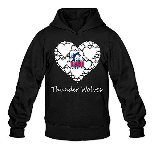 CYANY CSU Colorado State University Pueblo T Wolves Lace Heart Women's Funniest Hoodies Hoodie (Costumes Pueblo Colorado)