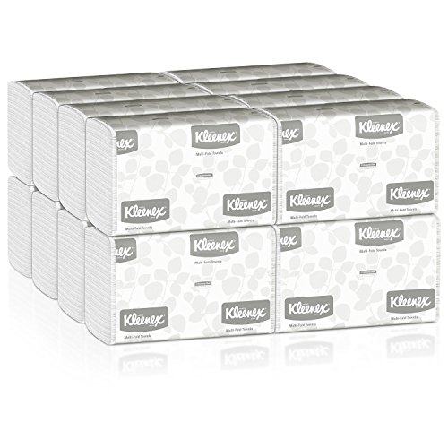 Kleenex Multifold Paper Towels (01890), White, Case of 16 Packs, 150 Tri Fold Paper Towels per Pack (2,400 Towels per Case)