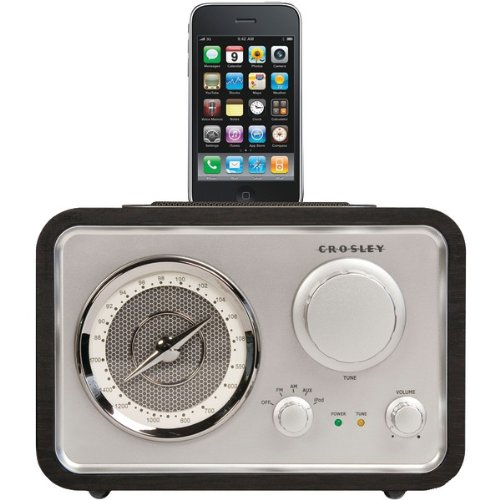 Crosley Ipod Dock (Crosley CR3009A-BK iSolo Radio (Black) (Discontinued by Manufacturer))