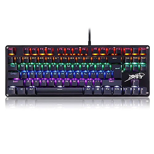 LINGBAO JIGUANSHI Mechanical Gaming Keyboard with Blue Switches,Mix - Lg Remote Keyboard