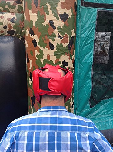 Replacement Red Boxing and Jousting Helmet and Headgear with Reinforced Seams for Interactive Inflatable Fighting Arena or Ring Games, Universal Size by TentandTable (Image #7)