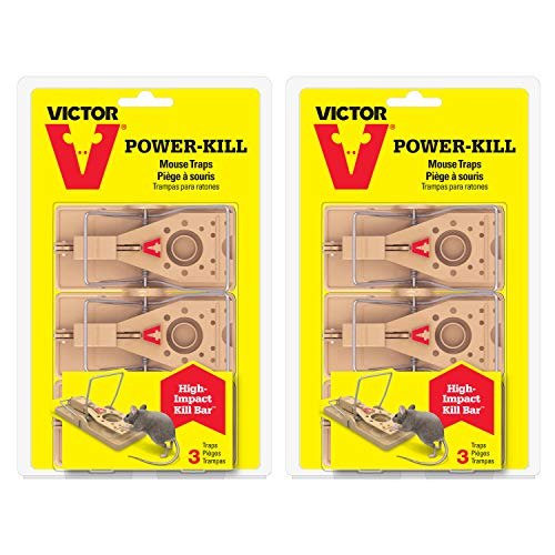 Victor M143SSR 2-Pack Power-Kill Mouse 6 Traps, Tan ()