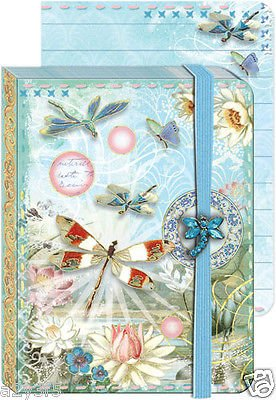 Punch Studio Everyday Brooch Pocket Journals -Beautiful Dragonfly Sky 58265