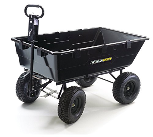 Gorilla Carts Gor2541d Heavy Duty Garden Poly Dump Cart