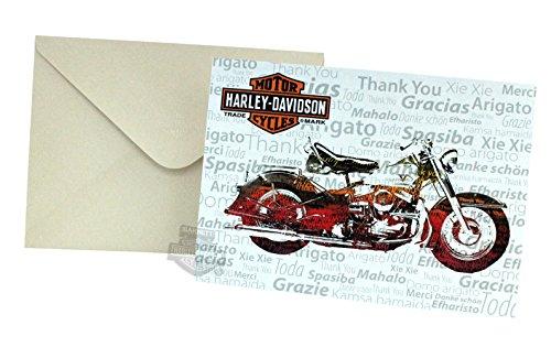 - Harley-Davidson Nostalgic Bike Thank You Blank Greeting Card