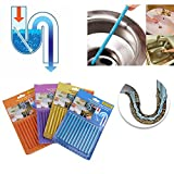 Easyinsmile Pipe Cleaning Sticks Odor Remover Keeps Drains And Pipes Clear and Odor-Free 48pcs/4 Pack
