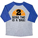 inktastic 2nd Birthday Basketball Sports Toddler T-Shirt 2T Heather and Royal