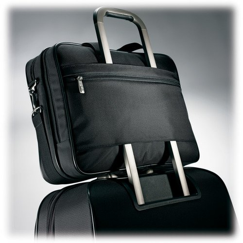 Samsonite Classic Business Perfect Fit 15.6'' Two Gusset Laptop Bag in Black by Samsonite (Image #5)