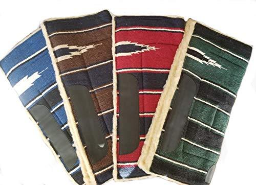 30インチ x 30インチ アクリルトップ フリース ボトム ナバホデザイン ウェスタン サドルパッド ウェストライド  グリーン B07PPYJBFW