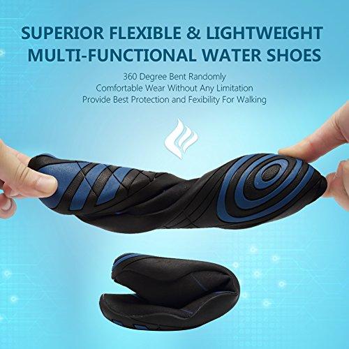 CIOR Männer Frauen Barfuß Quick-Dry Wasser Sport Aqua Schuhe mit 14 Drainage Löcher für Schwimmen, Walking, Yoga, See, Strand, Garten, Park, Fahren Adm.navy