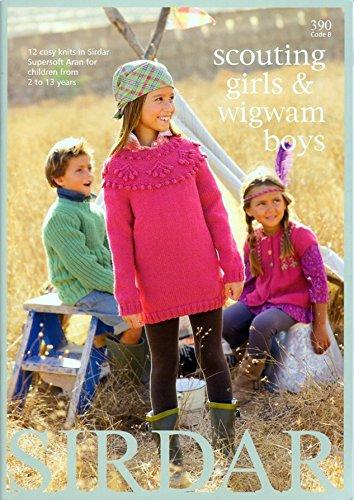 Sirdar Knitting Pattern Book 390 Scouting Girls Wigwam Boys