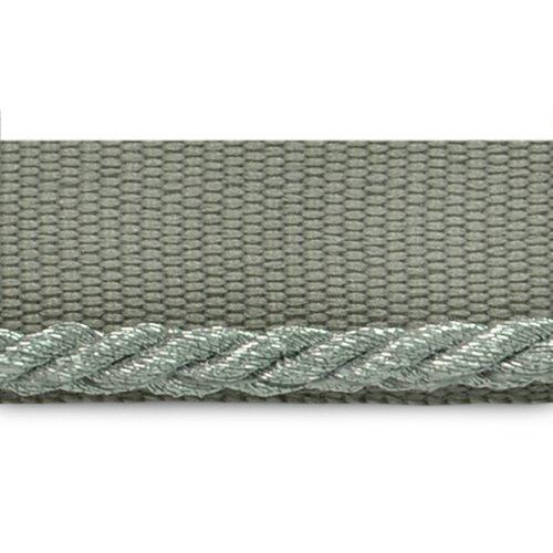 Expo International 20-Yard Saturn 1/8-Inch Twisted Lip Cord Trim, Metallic Silver