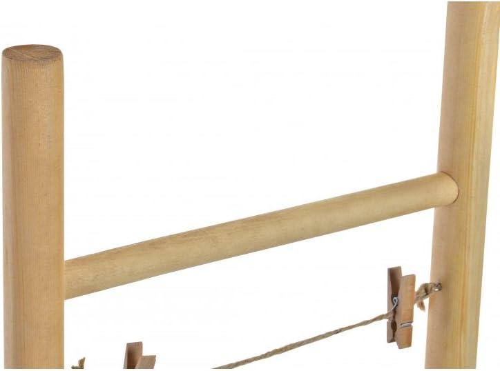 Hogar y Mas Porta Fotos Escalera, en Madera Natural, con Pinzas. 25 x 75 x 2,5 cm: Amazon.es: Hogar