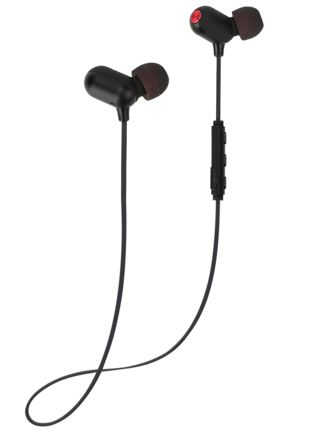 Bluetooth Earphones, ZENBRE E6 Bluetooth 4.1 Stereo Noise Isolating, Wireless Earphones Up to 7h Playtime, Water Resistant IPX4 Sport Earbuds Black